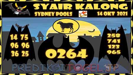 Syair Kalong Sidney Kamis 14 Oktober 2021