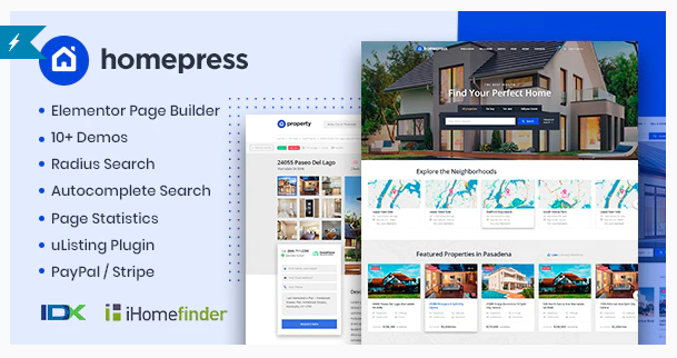 HomePress   7+ Best WordPress Themes For Real Estate Company