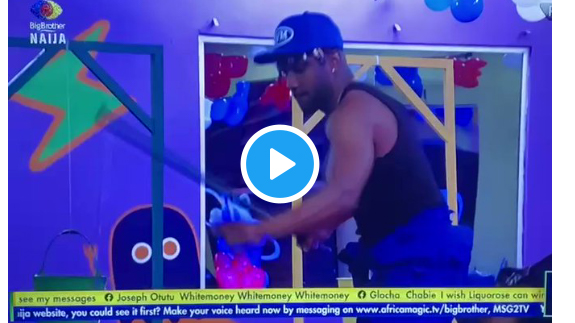 BBNaija: Watch what happened to Whitemoney during the Innoson task today (video)