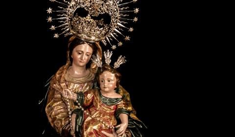 Horario e Itinerario Salida Procesional Virgen del Rosario de las Aguas. Sevilla 16 de Octubre del 2021