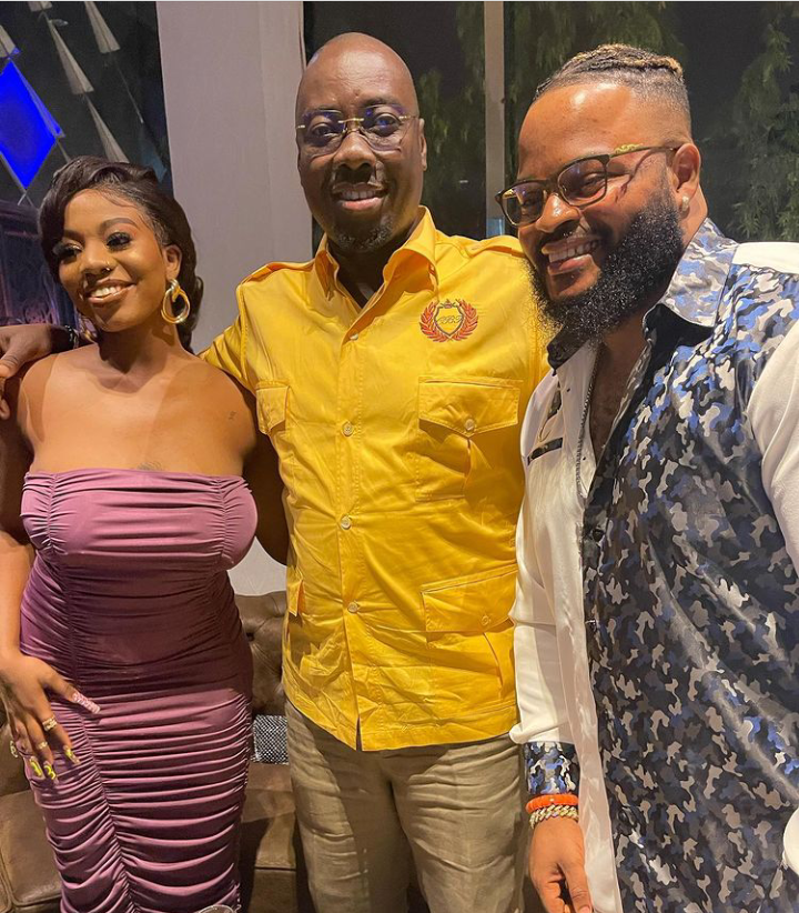 """BBNaija: Whitemoney shares new photos with Obi Cubana and Angel Smith, says """"tonight is about to get lit"""""""