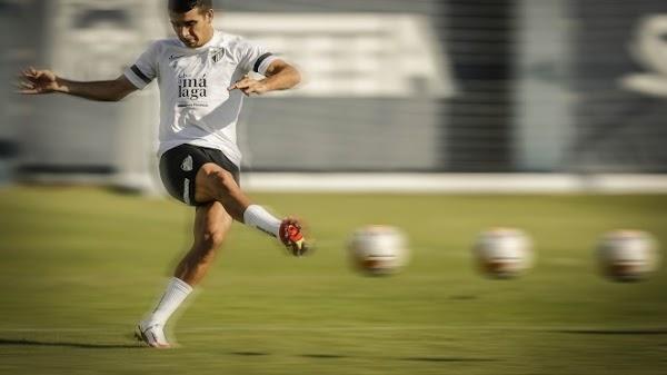 Málaga, Víctor Gómez es la novedad del entrenamiento de esta mañana