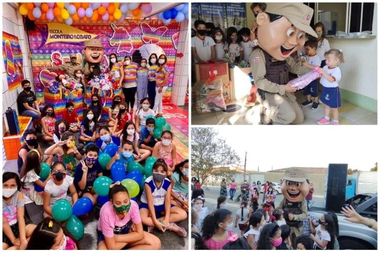 Patrulha Solidária mobiliza estudantes em Conquista para doarem brinquedos para crianças