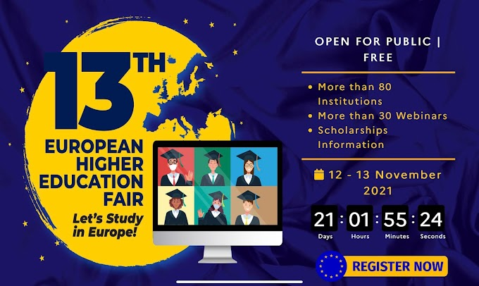 EHEF Eouropean Higher Education Fair 2021