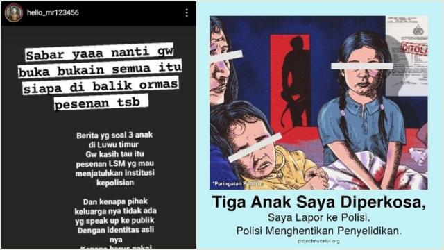 Buzzer Klaim Kasus Tiga Anak Saya Dip*rkosa 'Pesanan' untuk Jatuhkan Polri, Publik Murka