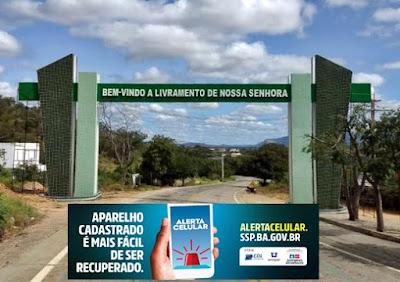 Câmara de Dirigente Logistas (CDL)  de Livramento de Nossa Senhora fecha parceria com SSP divulga Alerta Celular.