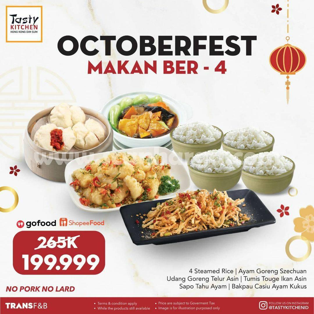 Promo TASTY KITCHEN OCTOBERFEST – Paket Makan Ber 4 cuma Rp. 199 Ribu-an