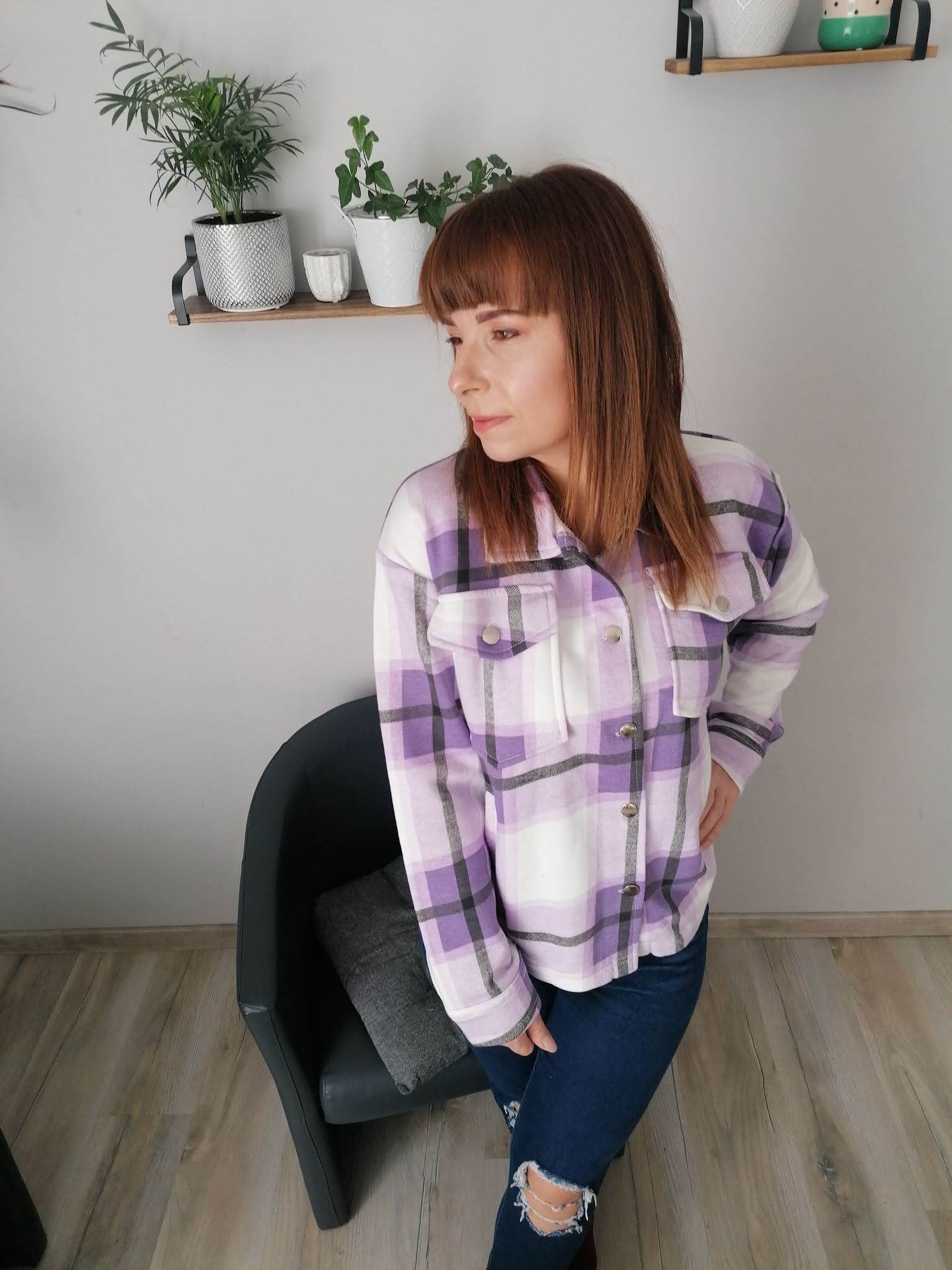 femme luxe koszula w kratę