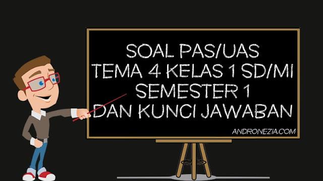 Soal PAS/UAS Tema 4 Kelas 1 SD/MI Semester 1 Tahun 2021