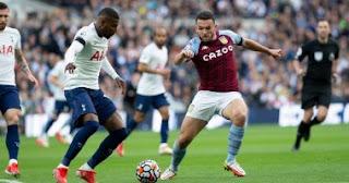 فاز توتنهام على أستون فيلا 2-1 ليتقدم للمركز الثامن في الدوري الإنجليزي الممتاز