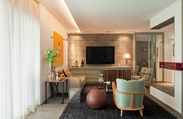 living room designs with wall mounted tv
