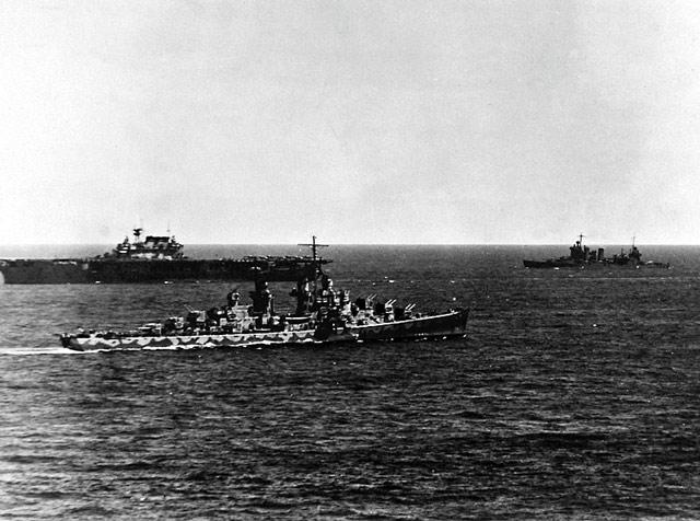 USS Atlanta with Hornet in the background, 6 June 1942 worldwartwo.filminspector.com