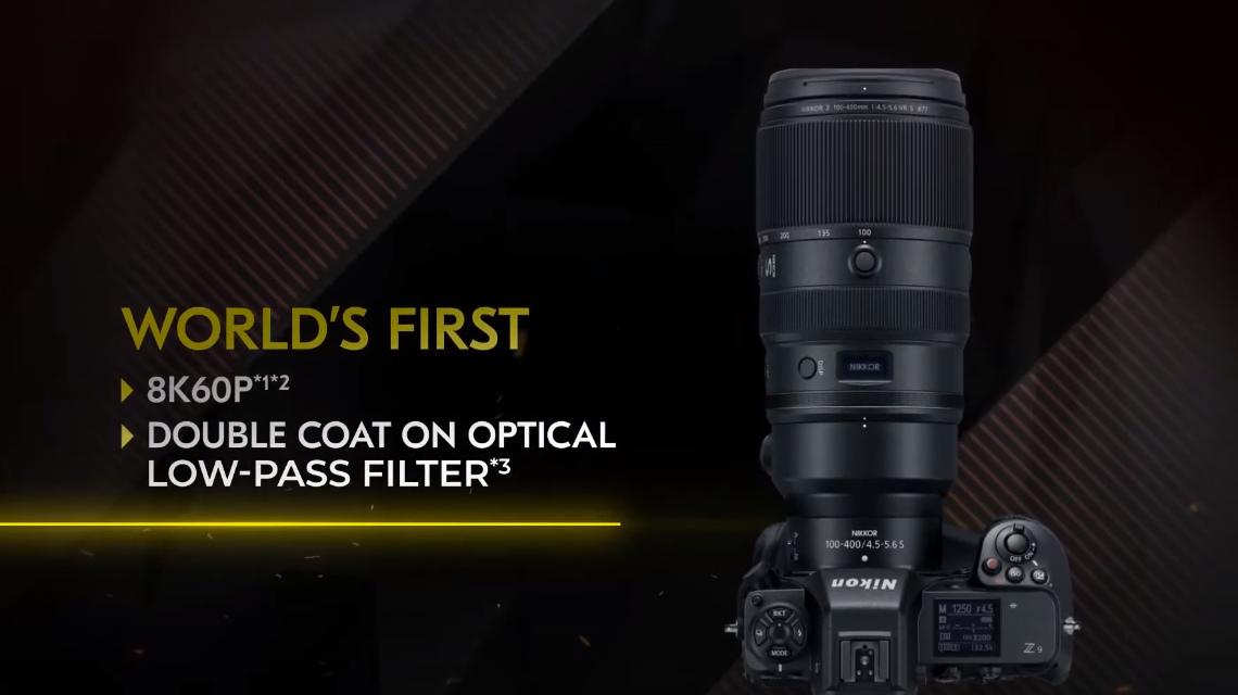 Видео в Nikon Z9 в формате 8K 60p