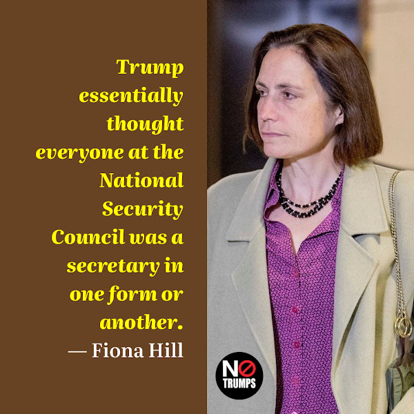 Trump essentially thought everyone at the National Security Council was a secretary in one form or another. — Fiona Hill, Trump's top Russia advisor on the National Security Council (NSC)