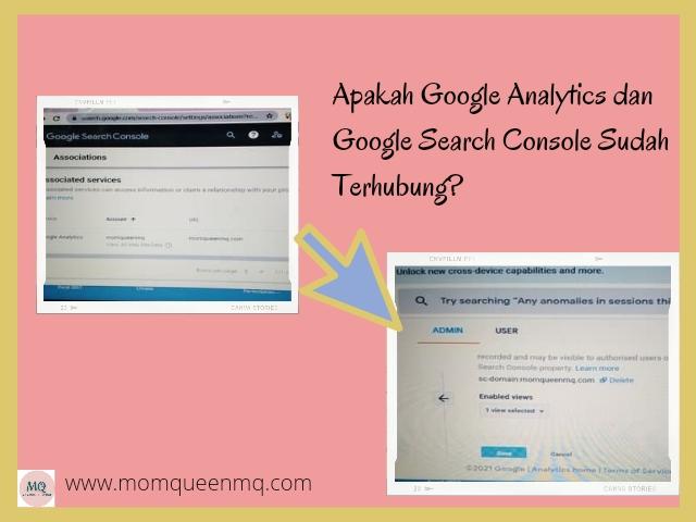 associate Google Analytics dan Google Search Console
