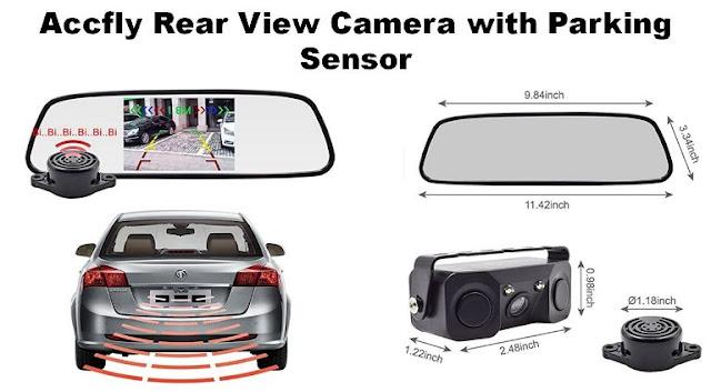 Merk-Sensor-Parkir-Mobil-Terbaik-murah-dan-Berkualitas-Accfly Rear View Camera with Parking Sensor