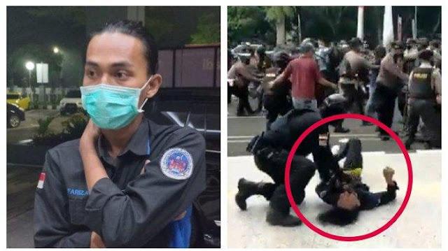 Kondisi Mahasiswa Usai 'Di-Smackdown' Polisi: Leher Susah Digerakkan