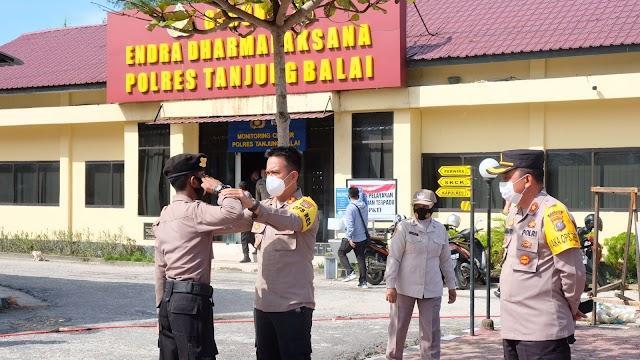 Kapolres Tanjung Balai Melakukan Pendampingan Rerhadap Bintara Remaja Binmas Noken Bripda Reynaldi