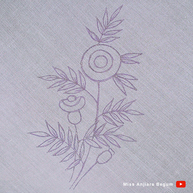 Hand embroidery new drawing pattern easy, Clear drawing pattern for embroidery