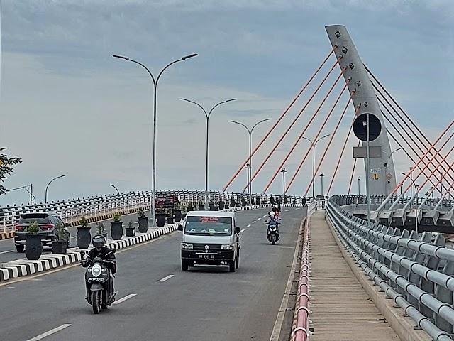 Bakal Diresmikan Jokowi, Jembatan Alalak Ditutup Sementara
