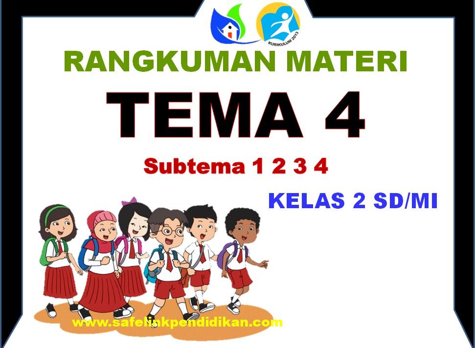 Rangkuman Materi Pembelajaran Tema 4 Kelas 2