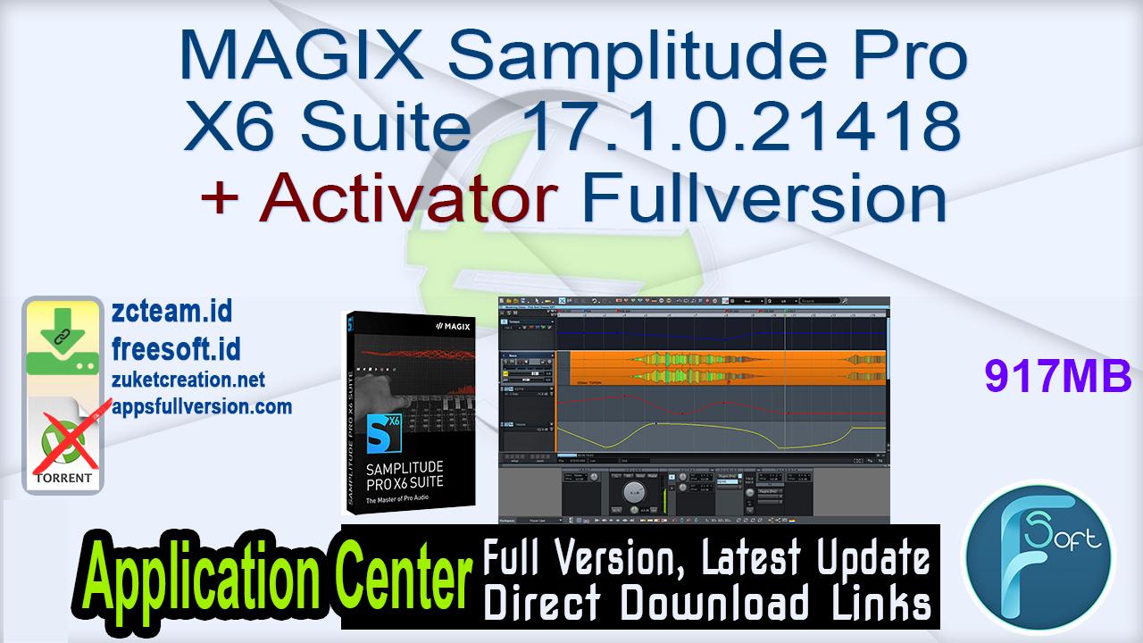 MAGIX Samplitude Pro X6 Suite 17.1.0.21418 + Activator Fullversion