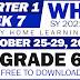 GRADE 6 Weekly Home Learning Plan (WHLP) Quarter 1: WEEK 7