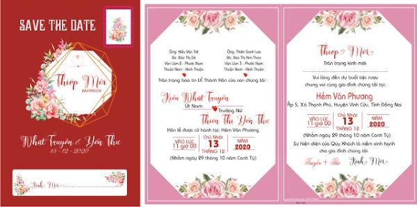 File thiết kế thiệp cưới