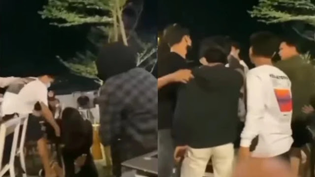 Viral Pria Pukul Pacarnya hingga Jatuh, Pengunjung Kafe Ngamuk