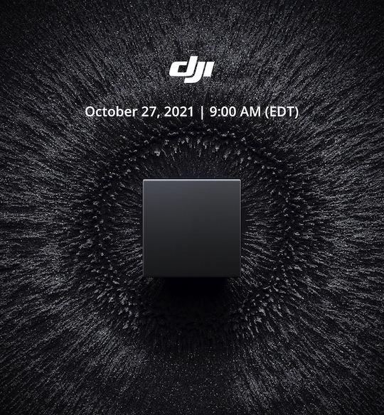 Тизер мероприятия компании DJI, которое состоится 27 октября 2021 года