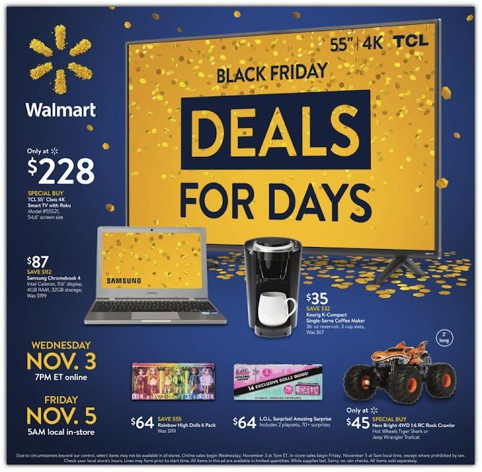 Walmart Black Friday Event 2021 #1 Ad Posted!