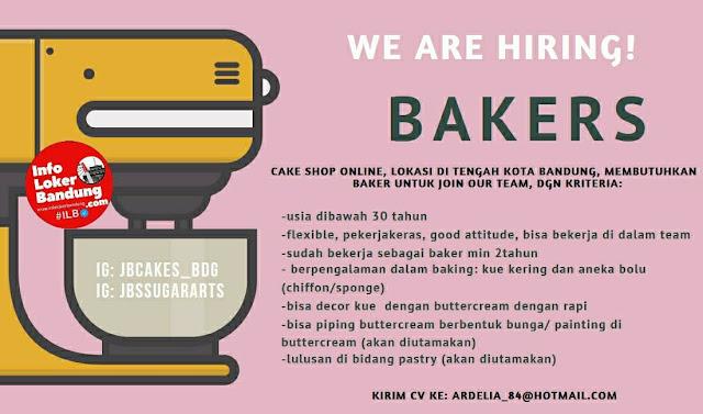 Lowongan Kerja Bakers JB Cakes Bandung Agustus 2021