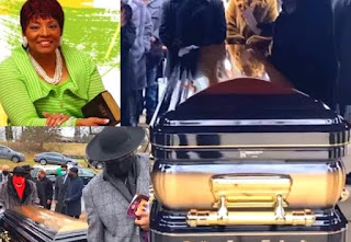 Picture collection of Iona Locke while paying the last tribute