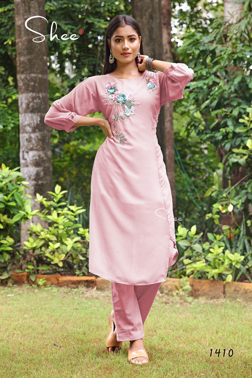 Shee Design No 1410 Size Set Kurtis Pant Set Catalog Lowest Price