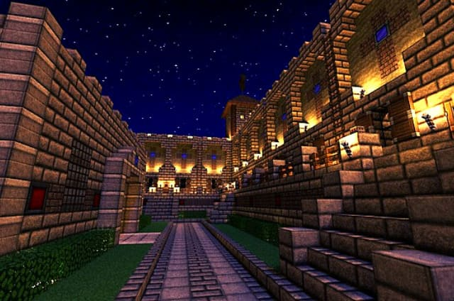 la noche en minecraft