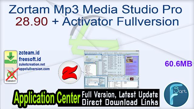 Zortam Mp3 Media Studio Pro 28.90 + Activator Fullversion