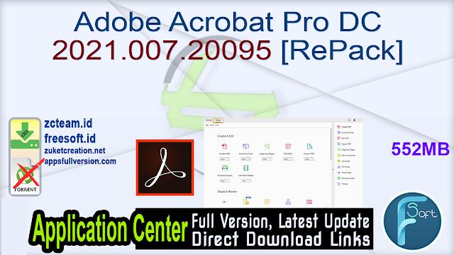 Adobe Acrobat Pro DC 2021.007.20095 [RePack]