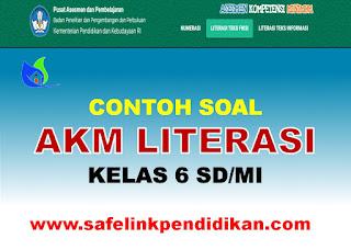 Soal AKM Literasi Teks Fiksi Kelas 6 SD/MI