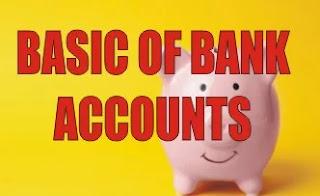 BASIC OF BANK ACCOUNTS
