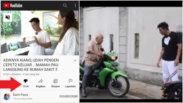 Panen Dislike, Video Baim Wong Ramai Hujatan Netizen