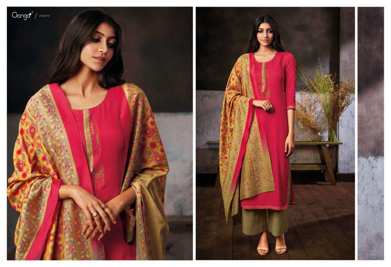 Ganga Hera Woollen Suits Catalog Lowest Price