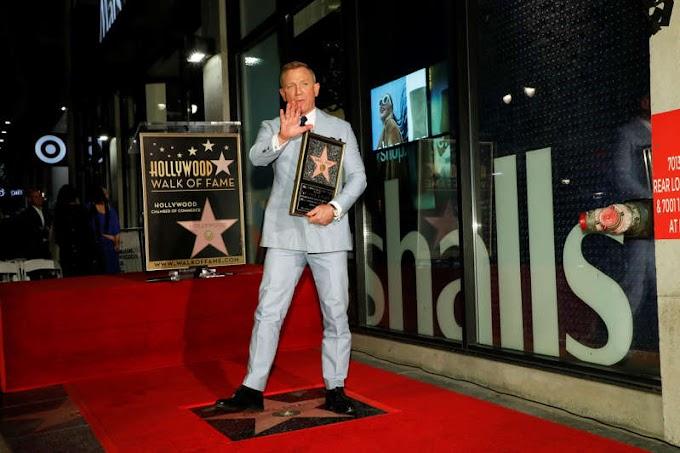 James Bond star Daniel Craig gets Hollywood Walk of Fame star