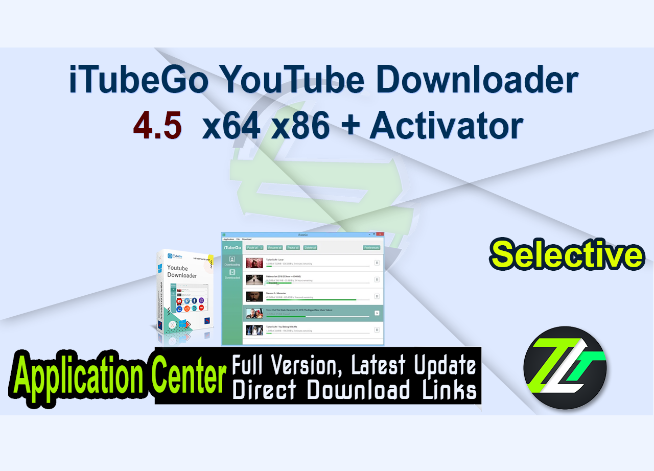 iTubeGo YouTube Downloader 4.5  x64 x86 + Activator
