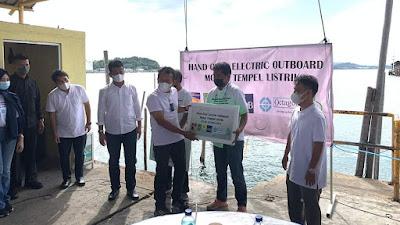 Dirut bright PLN Batam Nyoman S Astawa, Dukung Transformasi Energi, Uji Coba Motor Tempel Listrik Nelayan