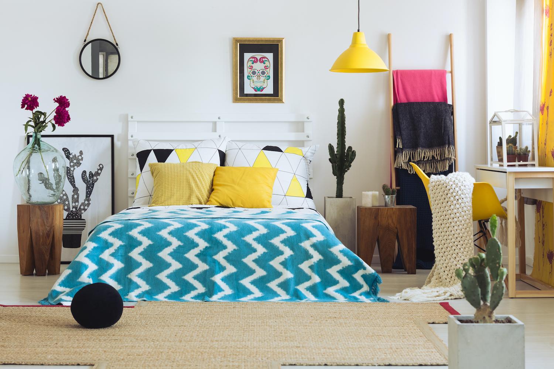 Cabeceros de cama caseros con un somier