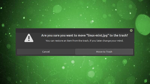 How to turn ON delete confirmation on Linux Mint?