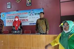 Babinsa Manisrenggo Hadiri Pembinaan Sanitasi Total Berbasis Masyarakat (STBM).