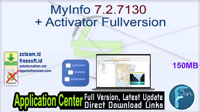MyInfo 7.2.7130 + Activator Fullversion