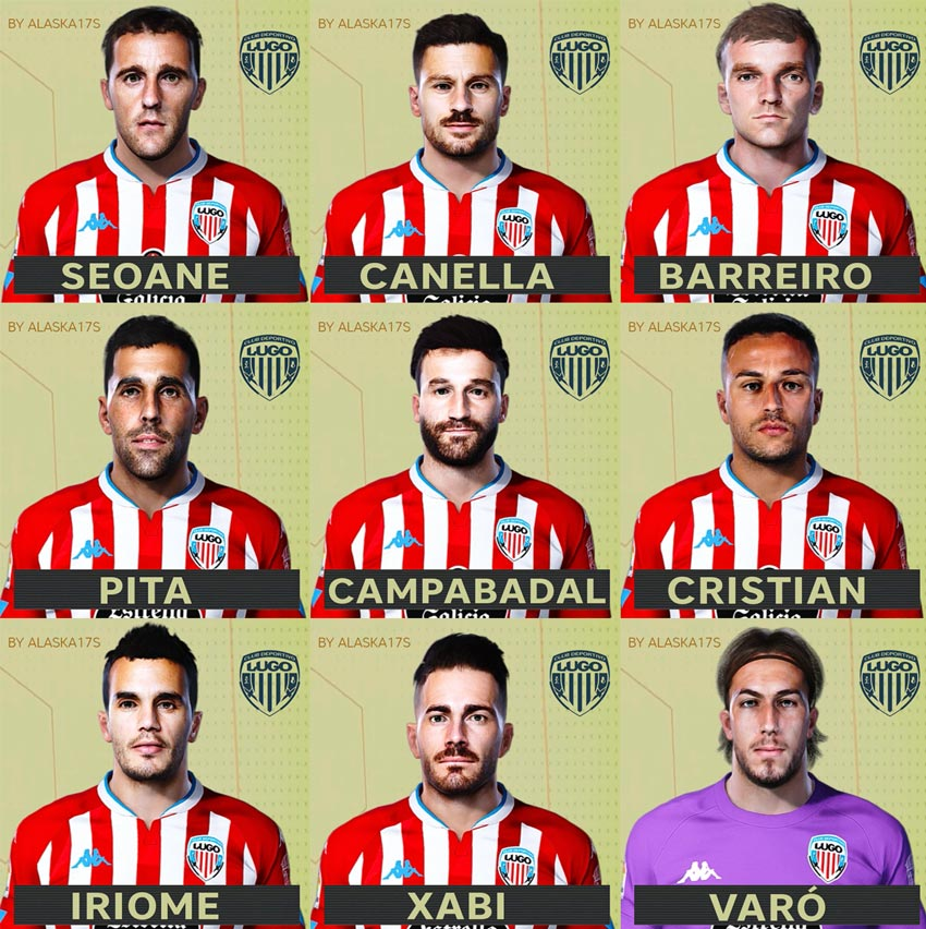 Facepack CD Lugo 20-21 For eFootball PES 2021