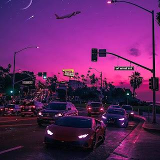 Aesthetic Purple City
